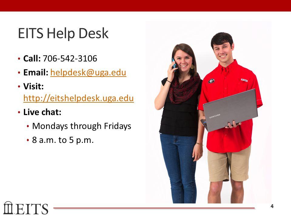 EITS Help Desk Call: Visit: Live Chat: Mondays Through Fridays 8 A.m.