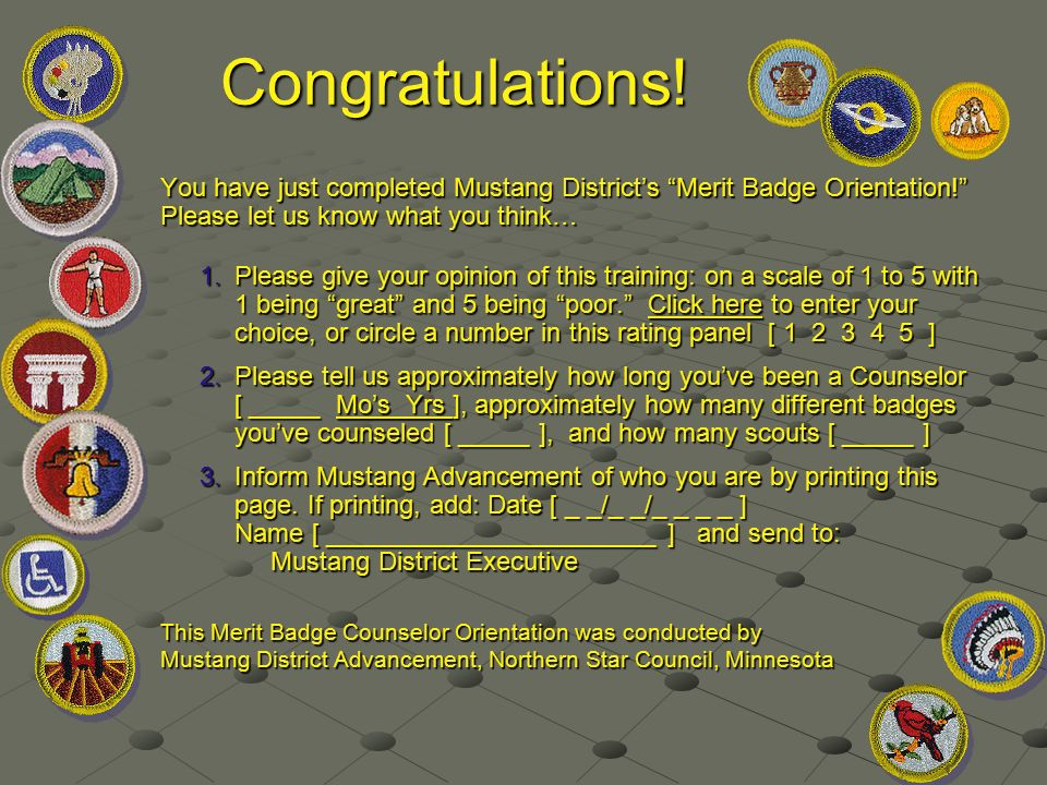 Merit Badge Counselor Orientation The essence of quality in