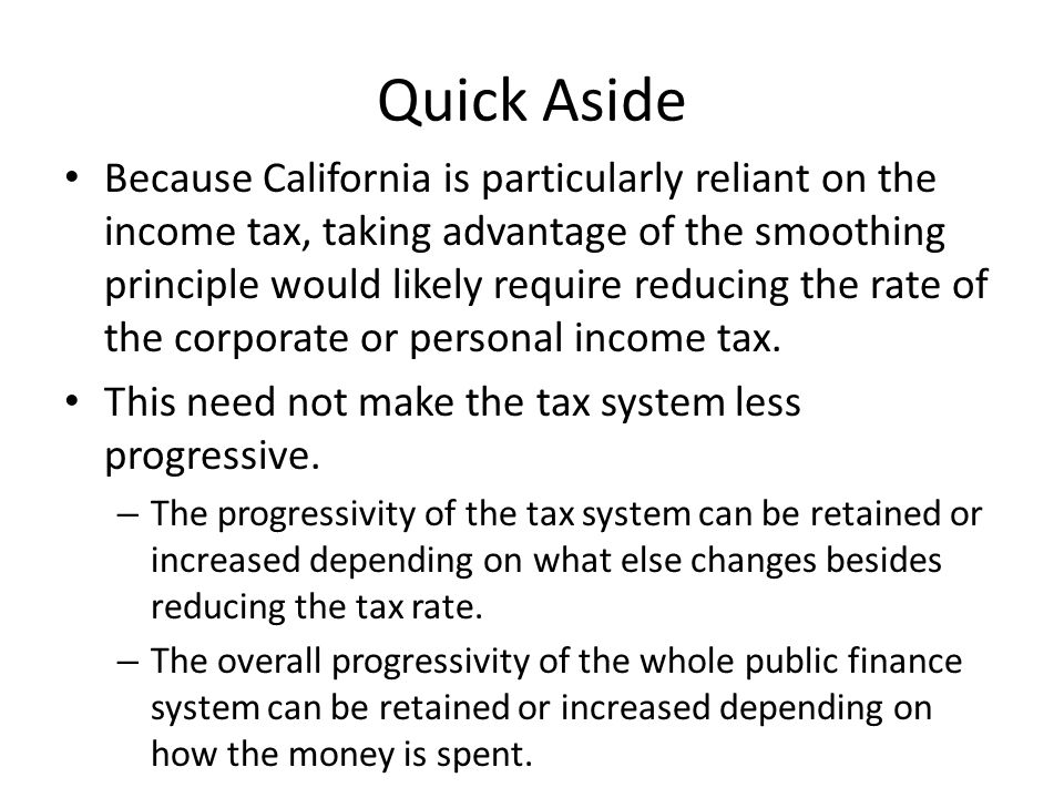 advantages of increasing income tax