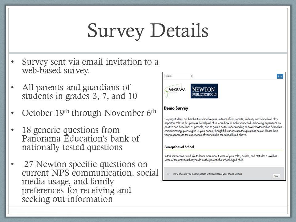Newton Public Schools Family-School Communication Survey