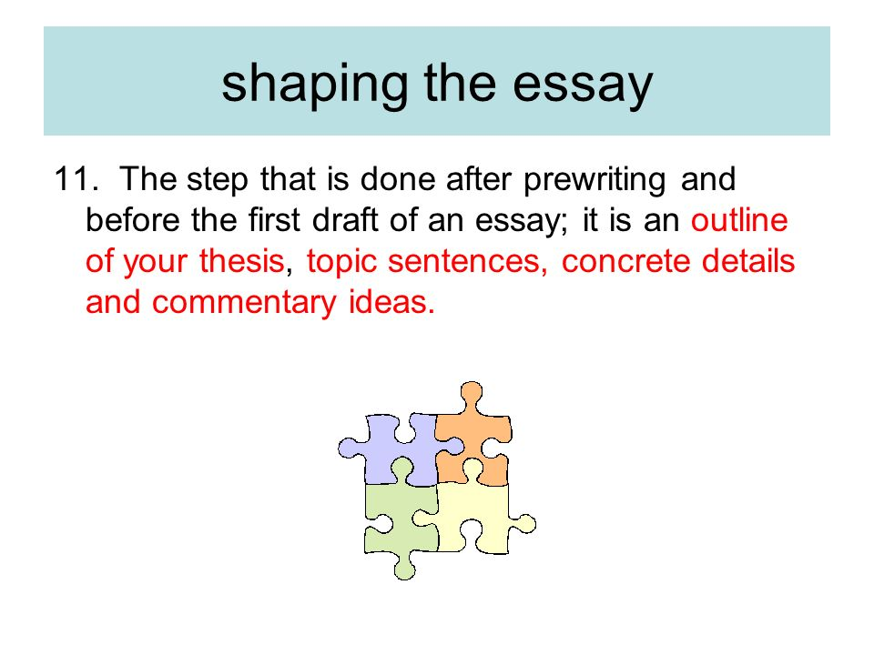 commentary essay outline