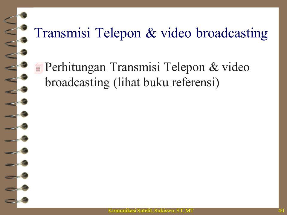 Modul – 12 sistem komunikasi satelit.