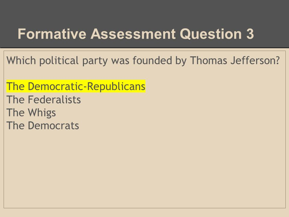 Assess of Democratic Republican Party