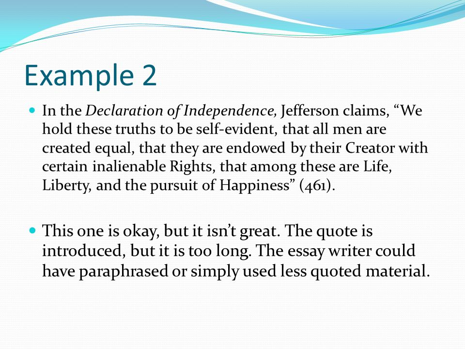 What is a quotation a reference to a work that is not your own a 9 example 2 in the declaration thecheapjerseys Choice Image