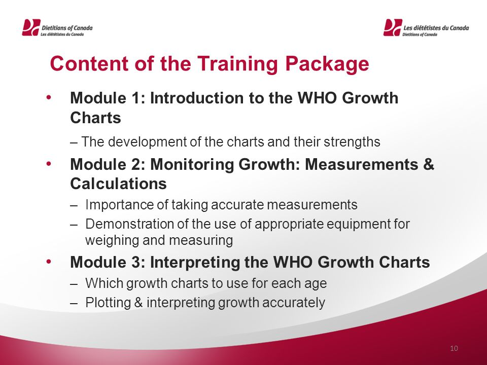 Who Growth Chart Self Instructional Training Package Meeting The
