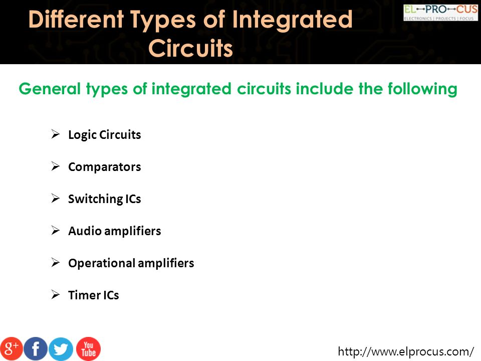 Different Types of Integrated Circuits  Introduction