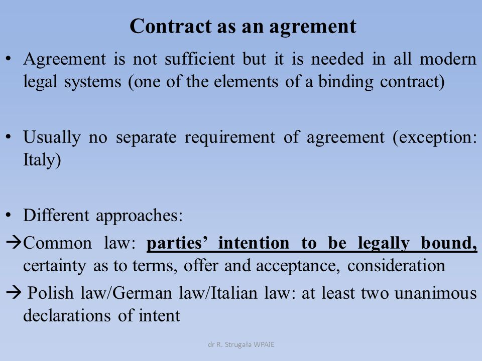 Contract Meaning Of The Term Meaning Of The Term Contract