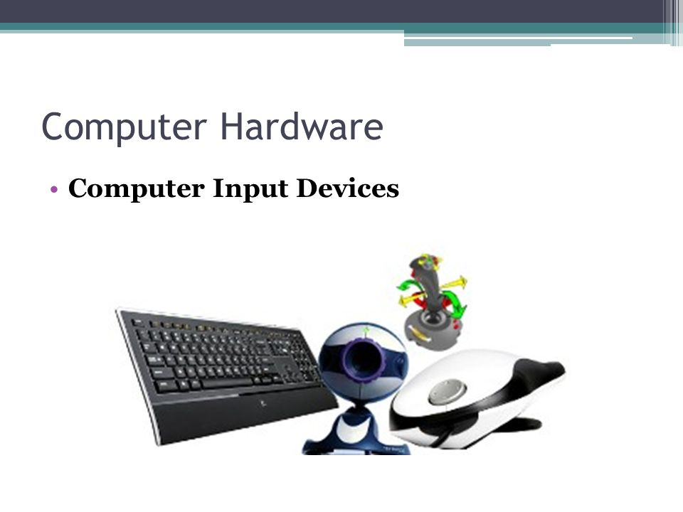 Computer hardware presentation.
