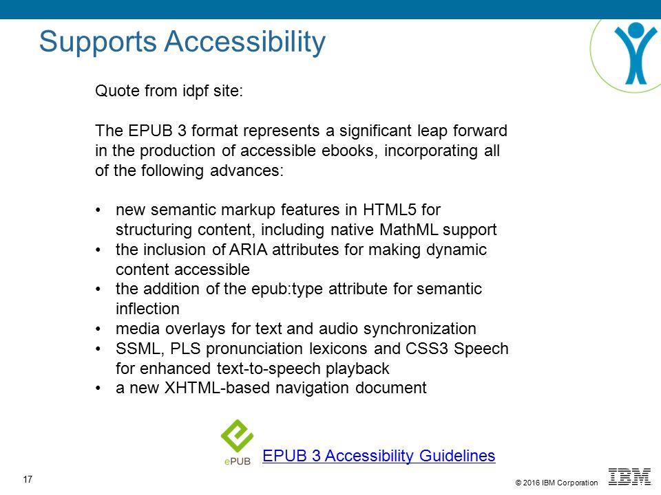Epub 3 accessible