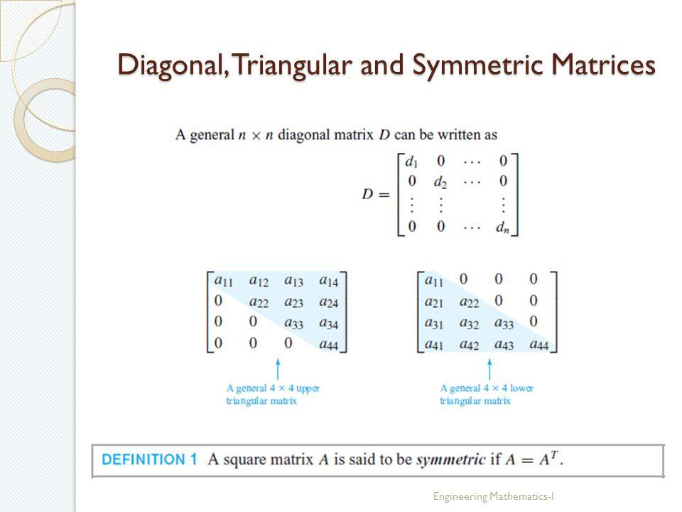 Linear Algebra Engineering Mathematics-I  Linear Systems in