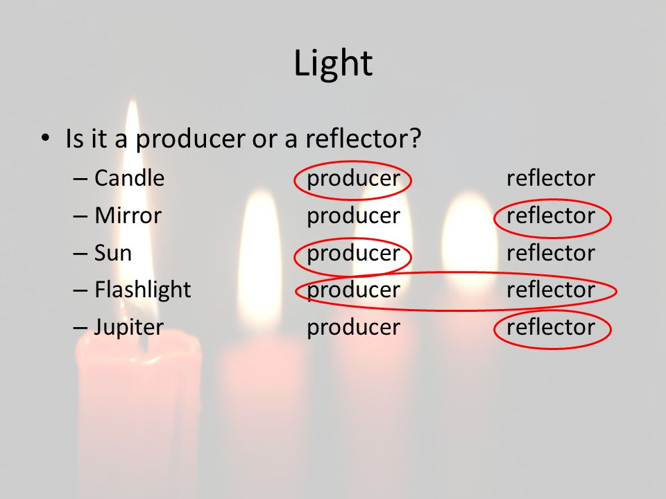 what is light light make a list of things that give us light how