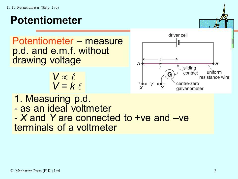 1© Manhattan Press (H.K.) Ltd Potentiometer Comparing resistances ...