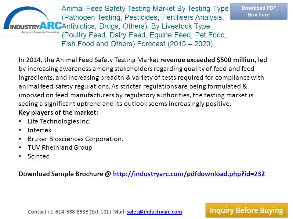 Animal Feed Safety Testing Market By Testing Type (Pathogen Testing