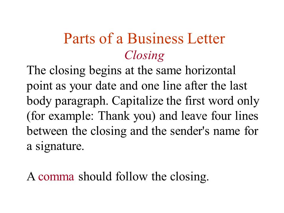 Professional Letter Closing Salutations from images.slideplayer.com