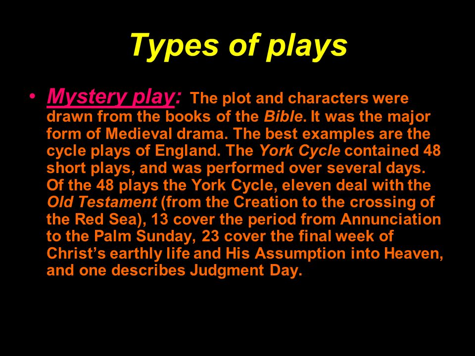 Mystery plays and miracle plays youtube.