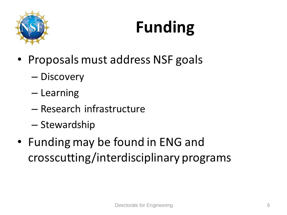 Engineering at NSF Ben Schrag National Science Foundation