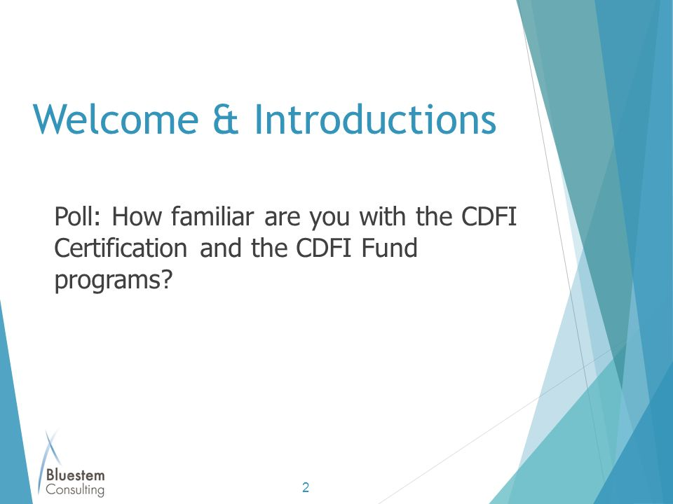 Becoming A Cdfi Introduction Overview Presented By Lisa Wagner