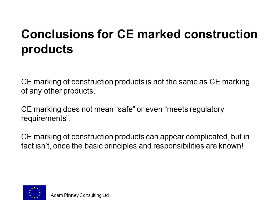 Introduction To The Eu Regulatory System For General Products And