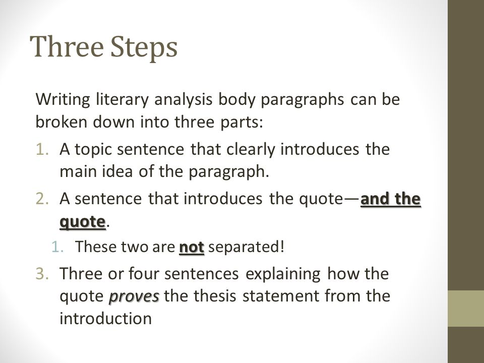 parts of a literary analysis