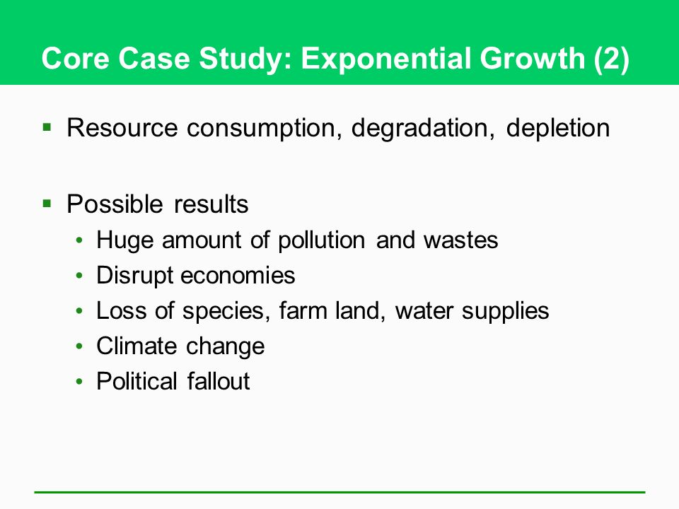 what causes exponential growth