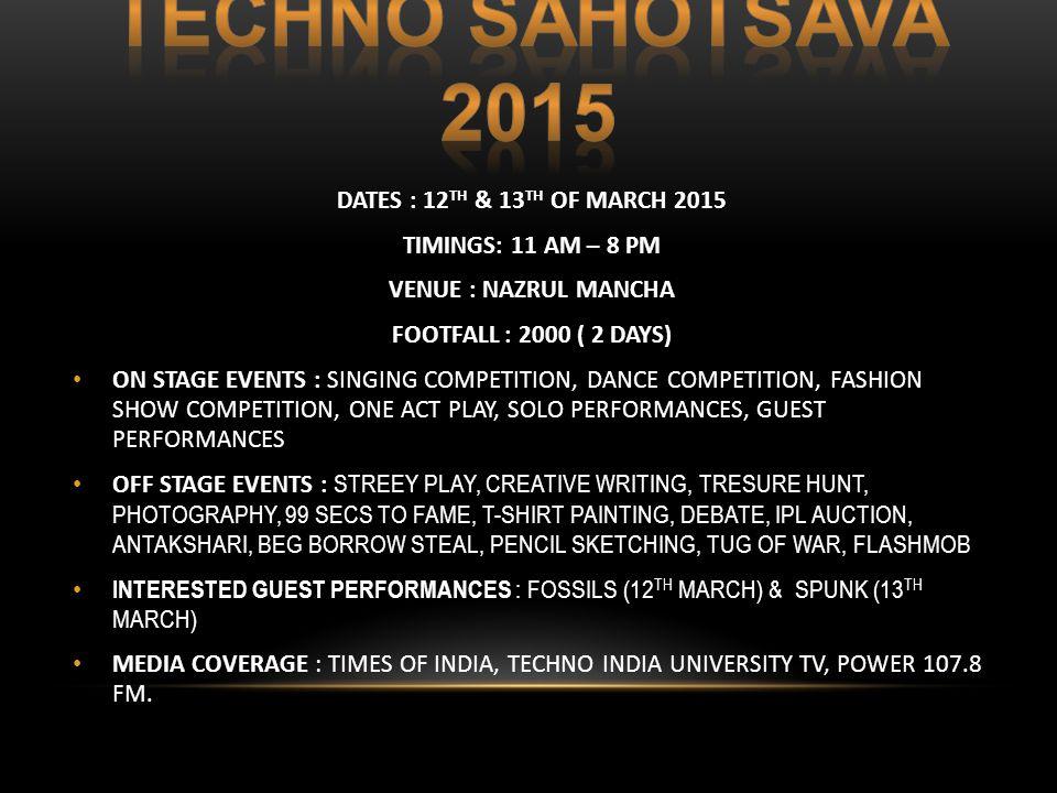 SPONSORSHIP PROPOSAL ANNUAL CULTURAL FEST  Techno India