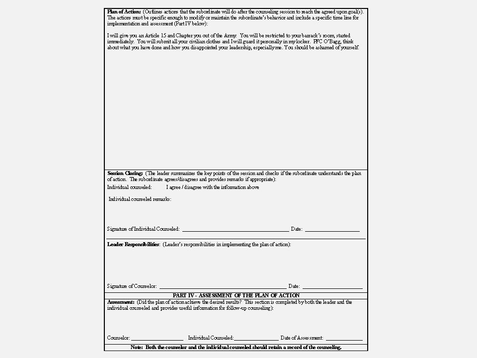 Counseling Corrective Training And Article 15s Ppt Download