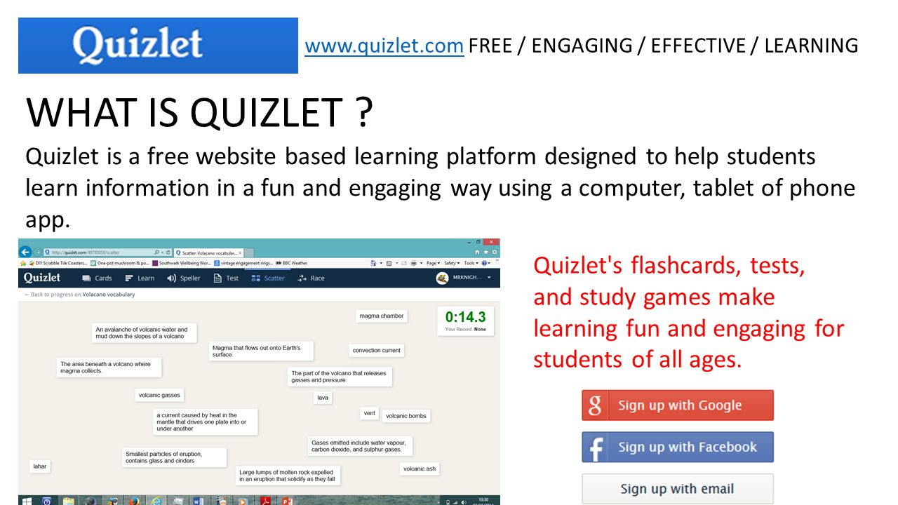 FREE / ENGAGING / EFFECTIVE / LEARNING WHAT IS QUIZLET