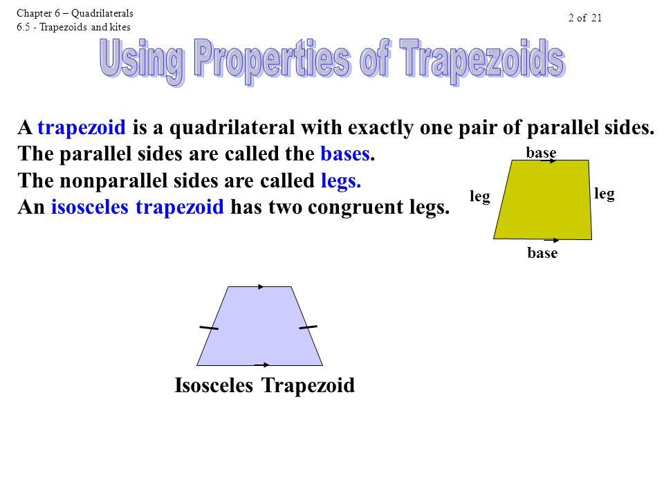6-6 homework trapezoids and kites
