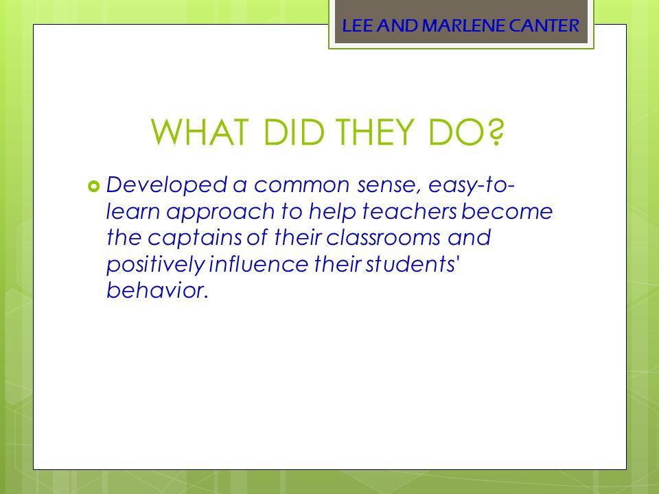 lee and marlene canter assertive discipline pdf