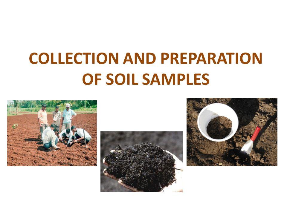 Soil sampling and testing.