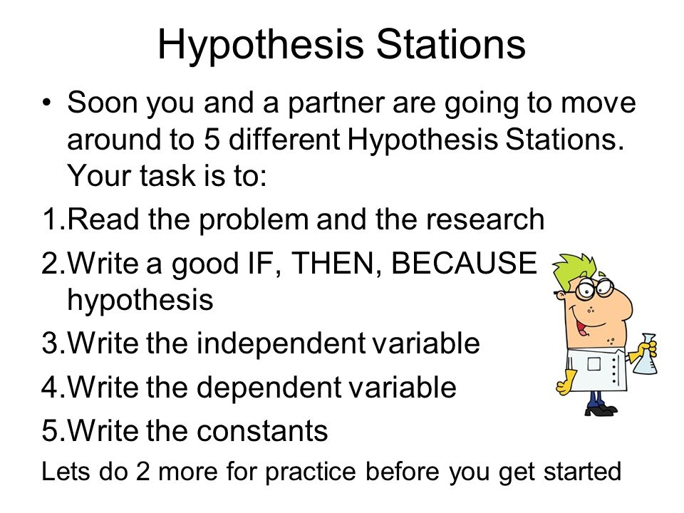 hypothesis examples biology