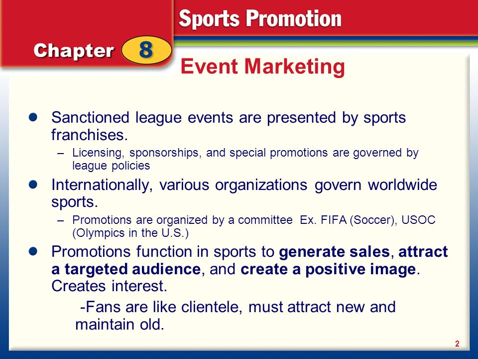 8 1 Planning The Promotion Event Marketing Event Marketing