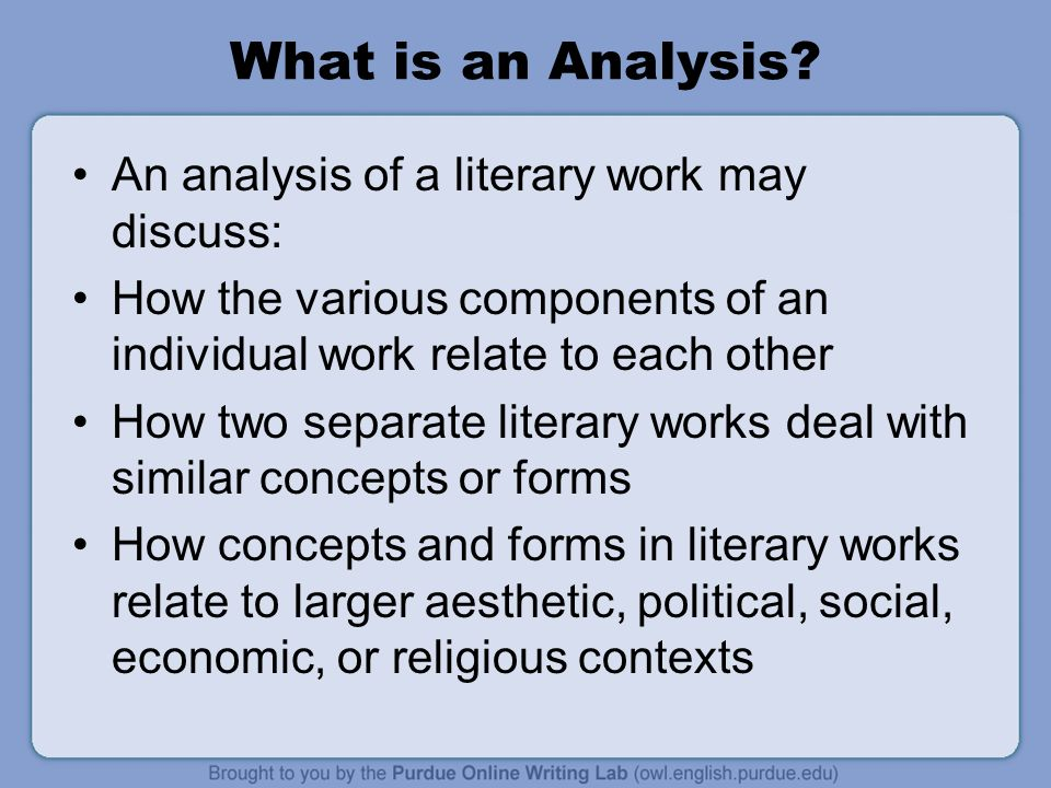 5 What Is An Analysis?