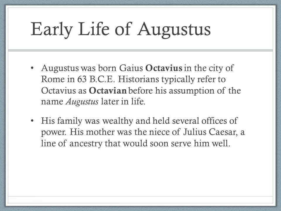 Image result for rome's augustus caesar is born
