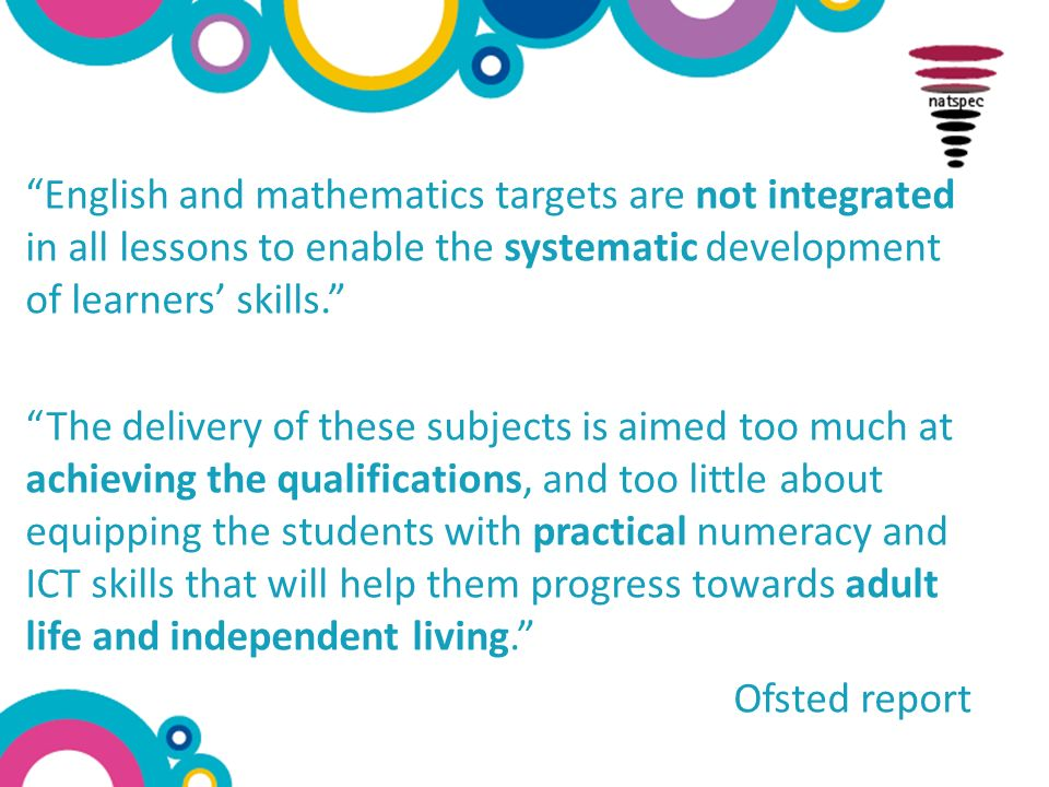 Integrating English & Maths across the Curriculum Ruth Perry ...