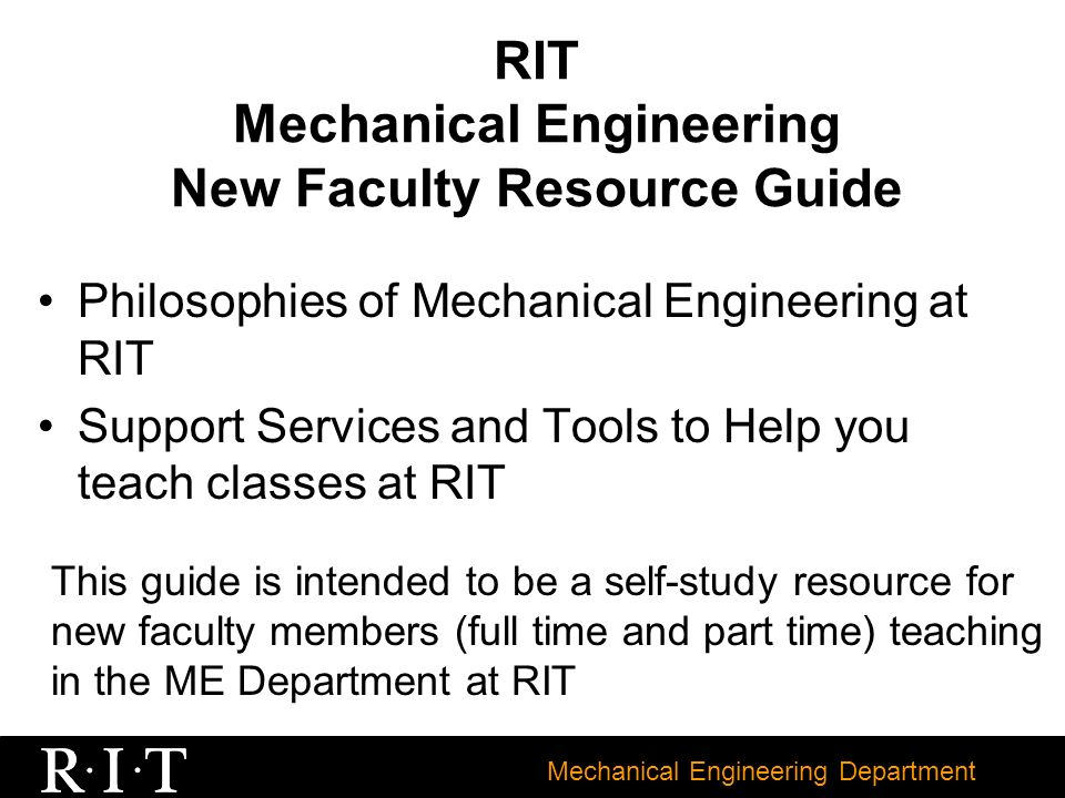 ferpa form rit  Mechanical Engineering Department RIT Mechanical Engineering ...