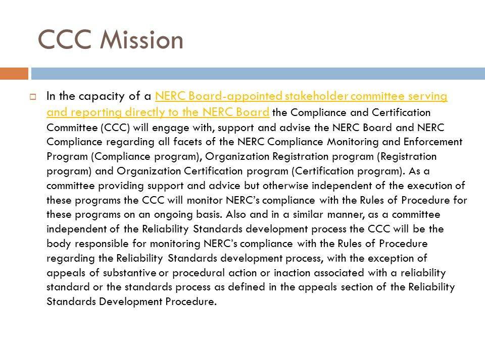 Nerc Compliance And Certification Committee Ccc Frcc Compliance