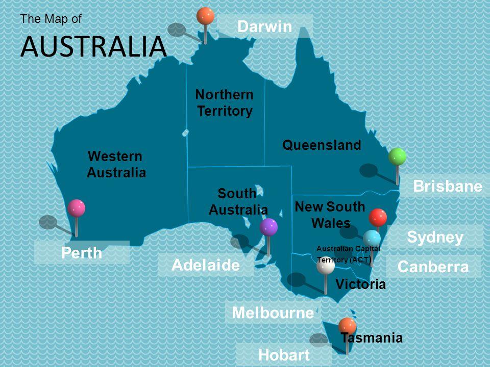 2 western australia northern territory south australia queensland adelaide melbourne sydney victoria perth darwin brisbane canberra hobart tasmania new