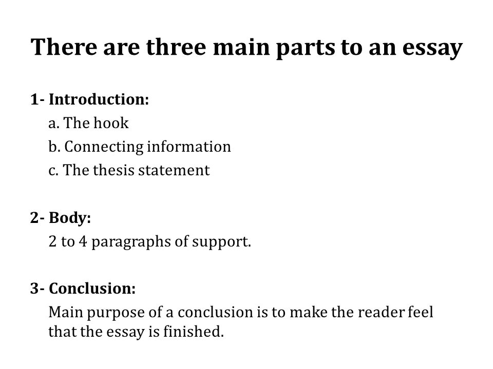 How To Write A Essay Proposal  Essay On Health And Fitness also Science Essay Examples Exploring The Essay There Are Three Main Parts To An Essay  Apa Format Sample Essay Paper