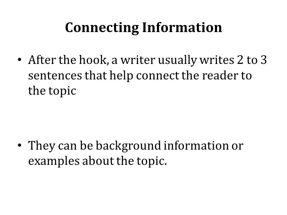 connecting information essay