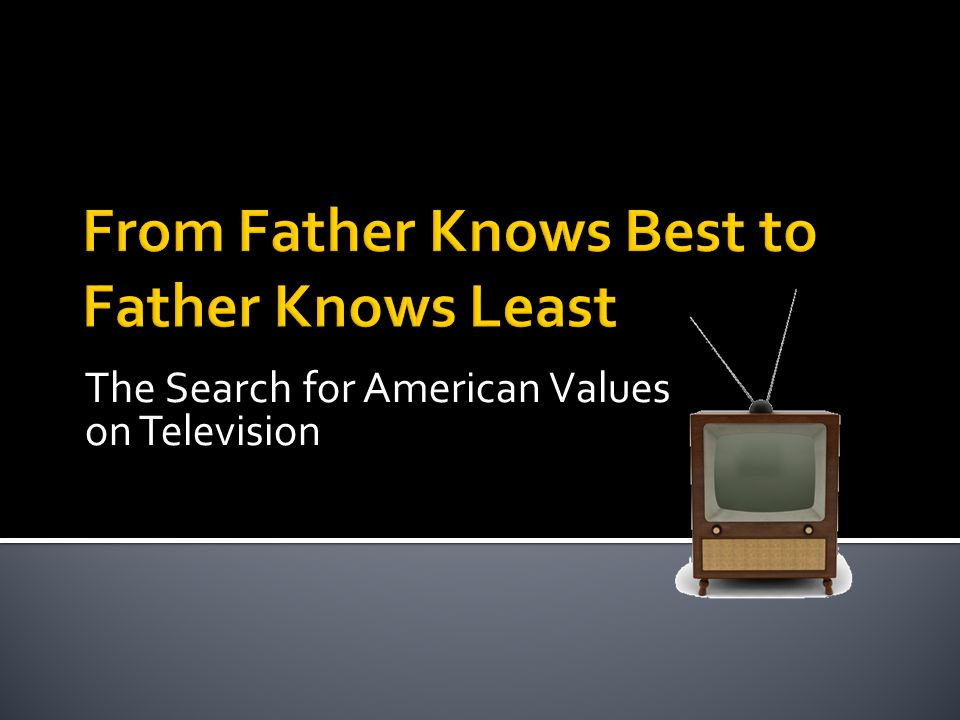 The Search for American Values on Television