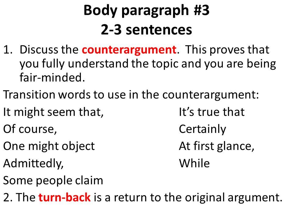 counter argument outline