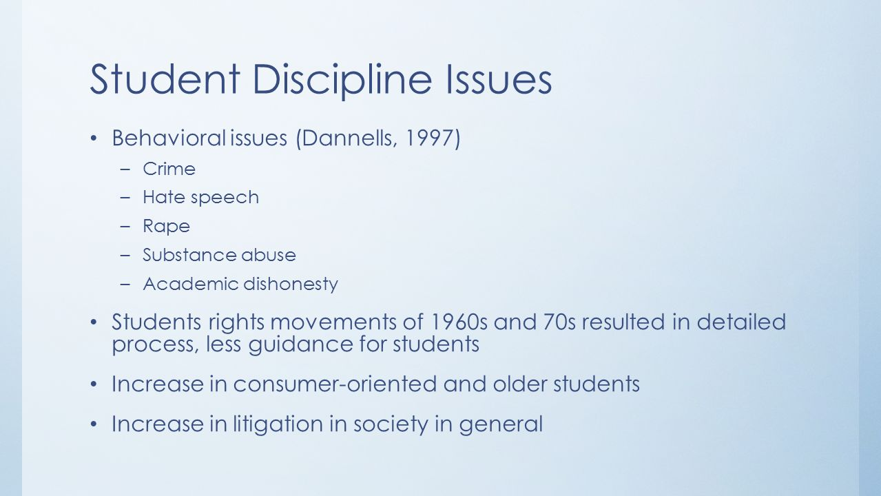 speech on students and discipline