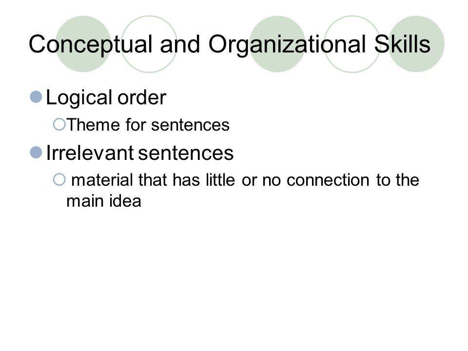 organizational skills and competencies
