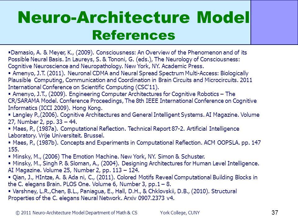 Neuro-Architecture Model Dr  John-Thones Amenyo Department