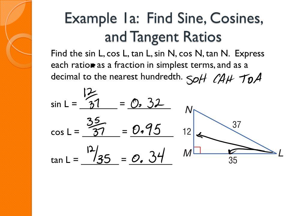 trigonometric ratios calculator