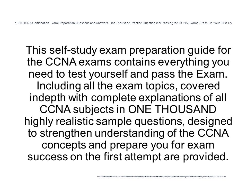 1000 CCNA Certification Exam Preparation Questions and Answers- One ...
