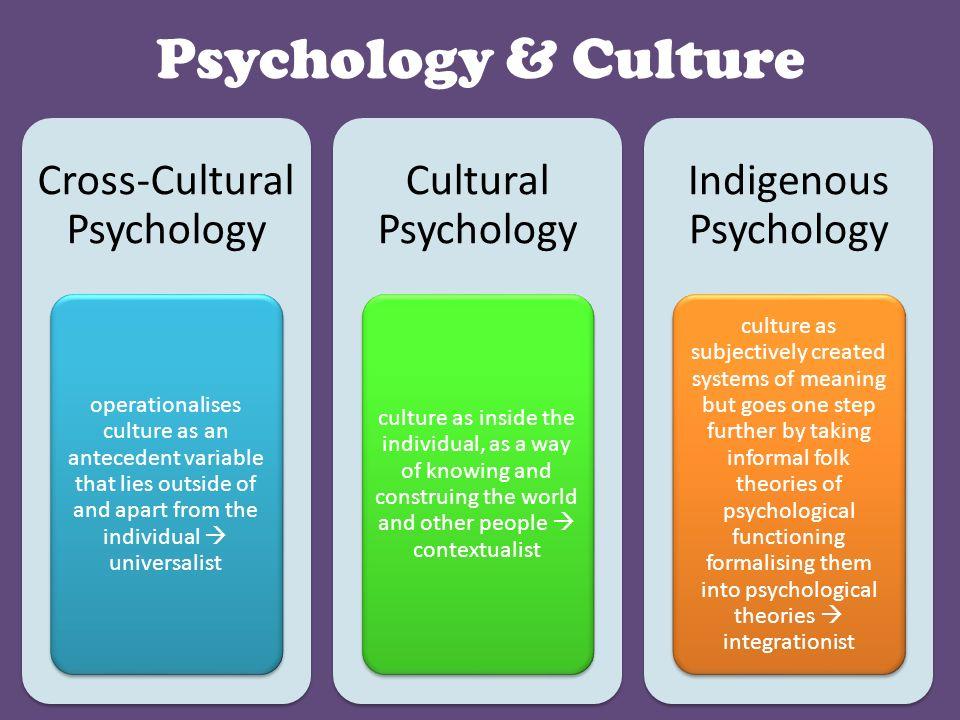 cultural and cross cultural psychology