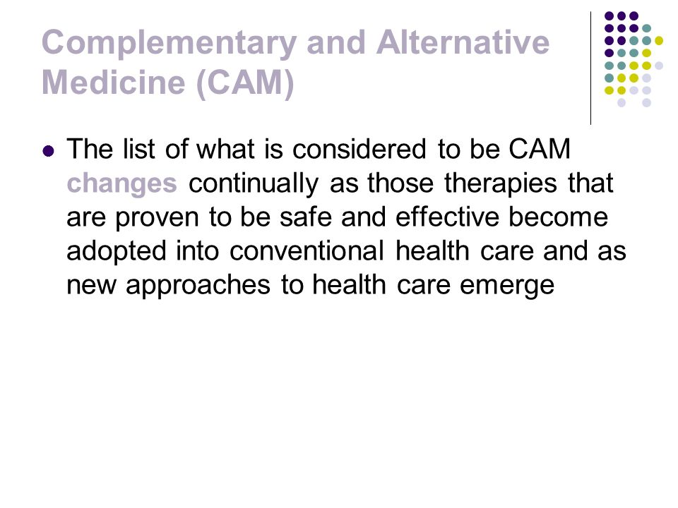 Health Psychology Chapter 14: Alternative Medicine Dec 7