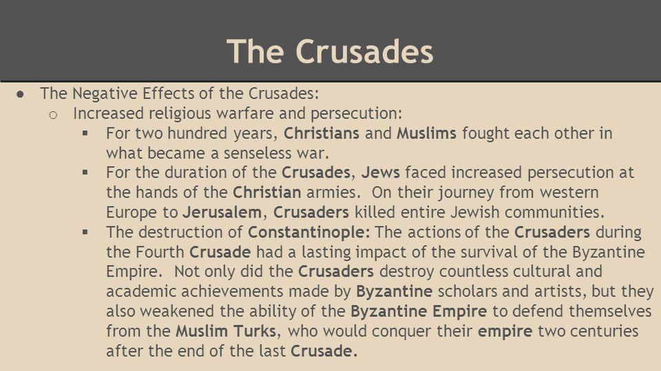 crusades impact on trade